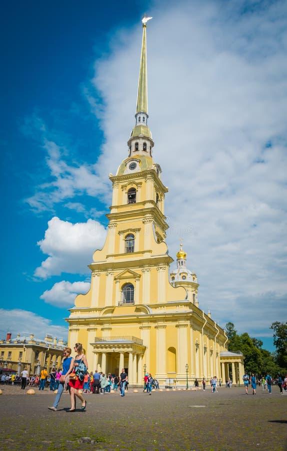 Peter en Paul Cathedral in Peter en Paul Fortress, Heilige Petersburg, Rusland stock fotografie