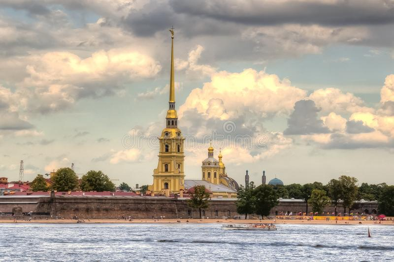 Peter en Paul Cathedral, Heilige Petersburg, Rusland royalty-vrije stock afbeeldingen