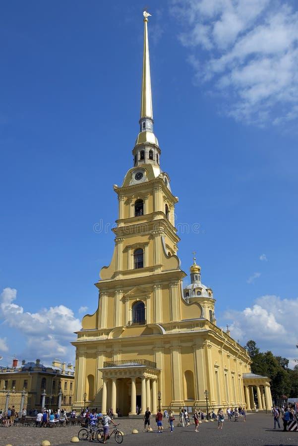Peter en Paul Cathedral in Heilige Petersburg, Rusland stock fotografie