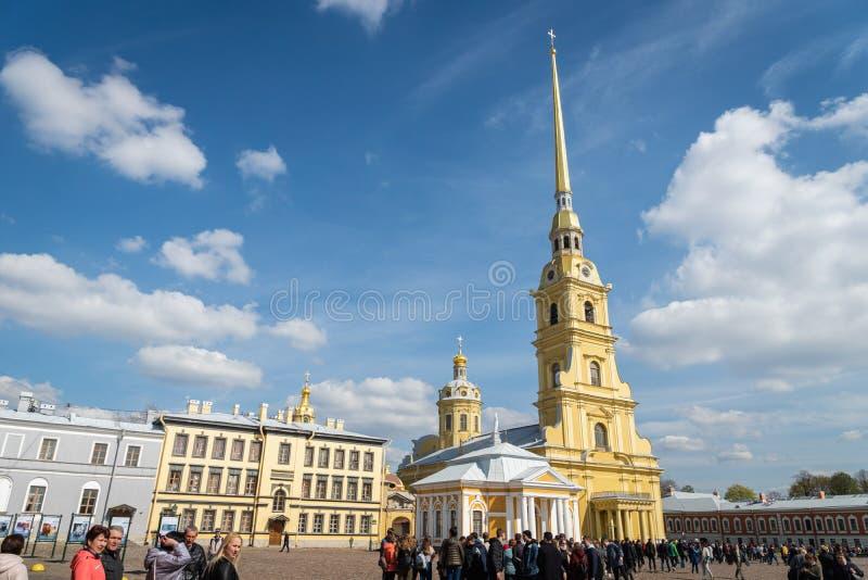 Peter en Paul Cathedral in Heilige Petersburg, Rusland royalty-vrije stock afbeeldingen
