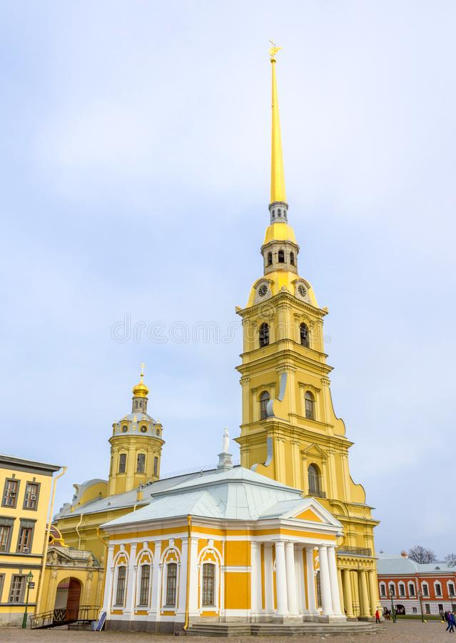 Peter en Paul Cathedral in Heilige Petersburg, Rusland royalty-vrije stock foto