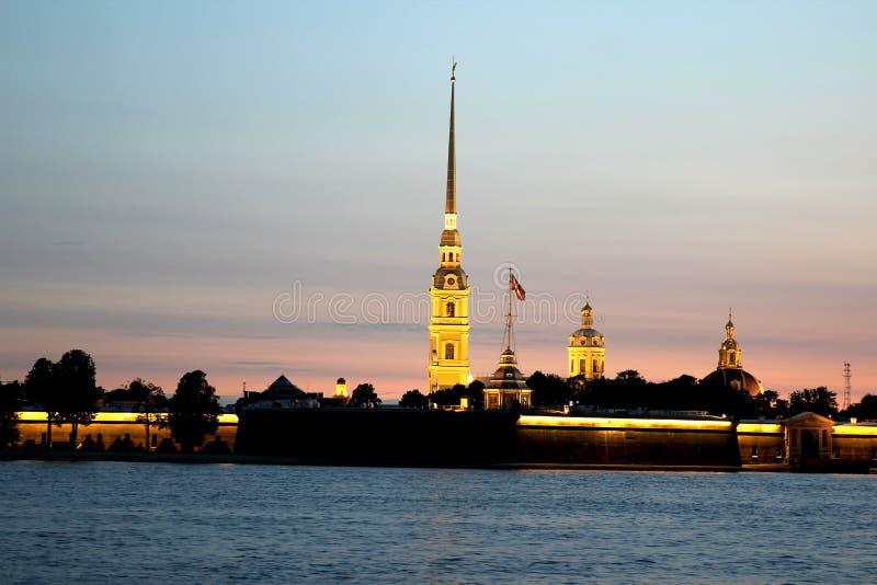 Peter en Paul Fortress in St. Petersburg royalty-vrije stock fotografie