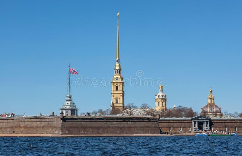 Peter en Paul Fortress, St Petersburg royalty-vrije stock foto
