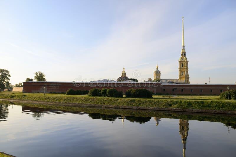 Peter en Paul Fortress, St. Petersburg, Rusland. royalty-vrije stock foto's