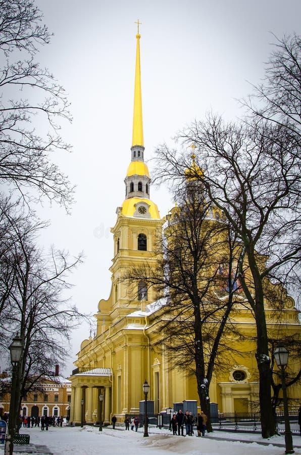 Peter en van Paul kathedraal Heilige-Petersburg stock afbeelding