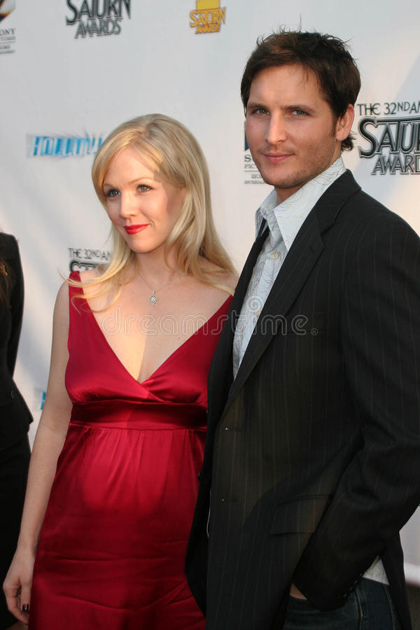 Peter Facinelli, Jennie Garth stock afbeelding