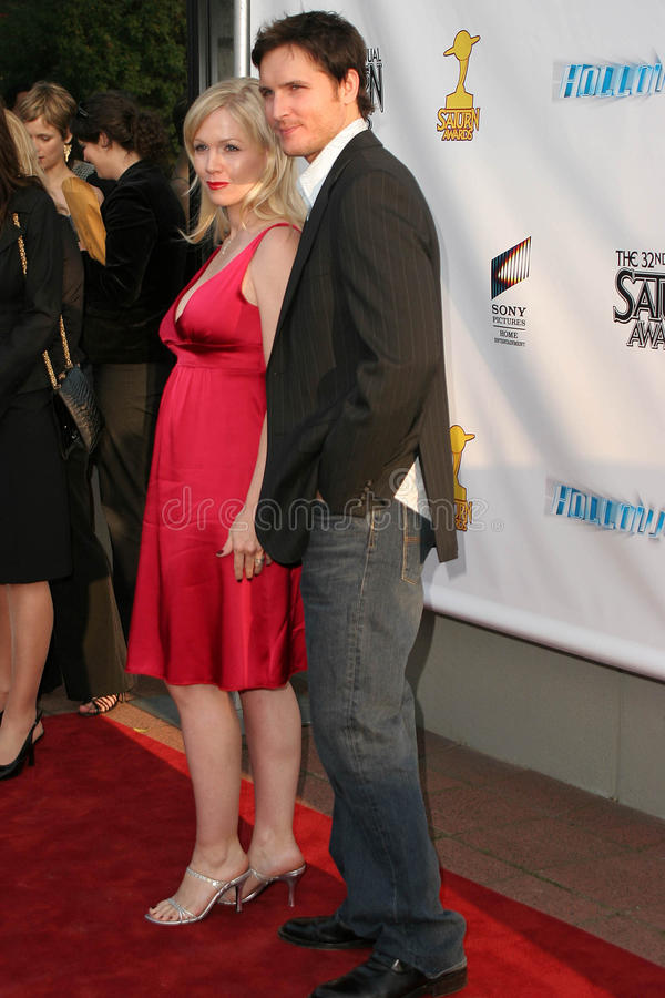 Peter Facinelli, Jenny Garth stock foto's