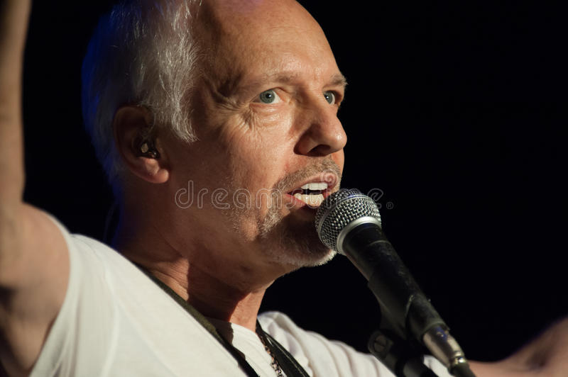 Peter Frampton. LINCOLN, CA - August 30: Peter Frampton performs in support of his Frampton's Guitar Circus tour at Thunder Valley Casino Resort in royalty free stock photo
