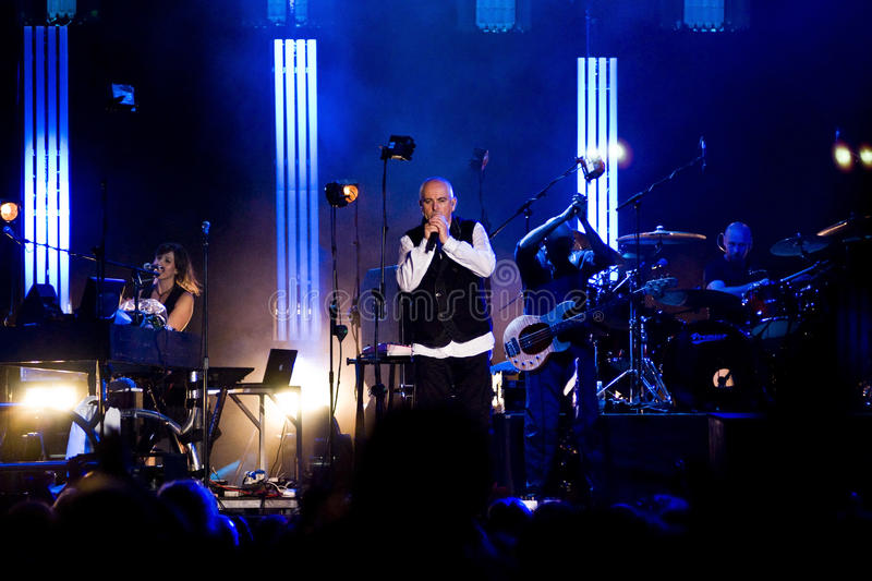 Peter Gabriel in Concert stock photography