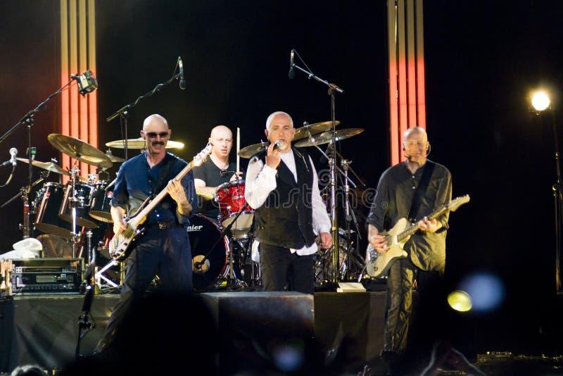 Peter Gabriel di concerto fotografia stock libera da diritti