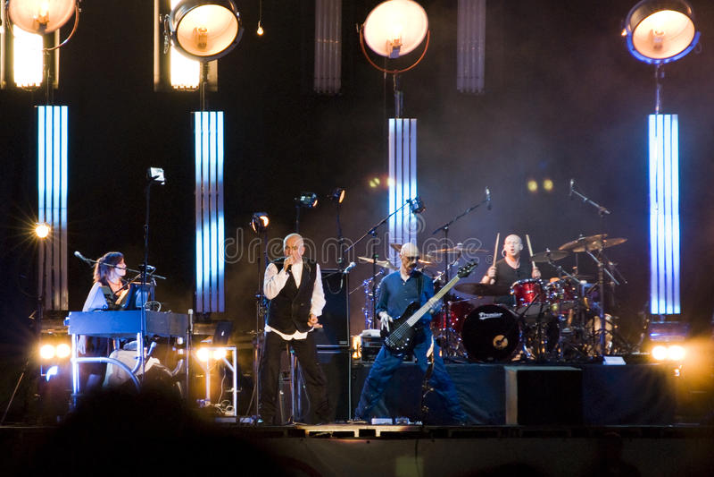 Peter Gabriel di concerto fotografia stock