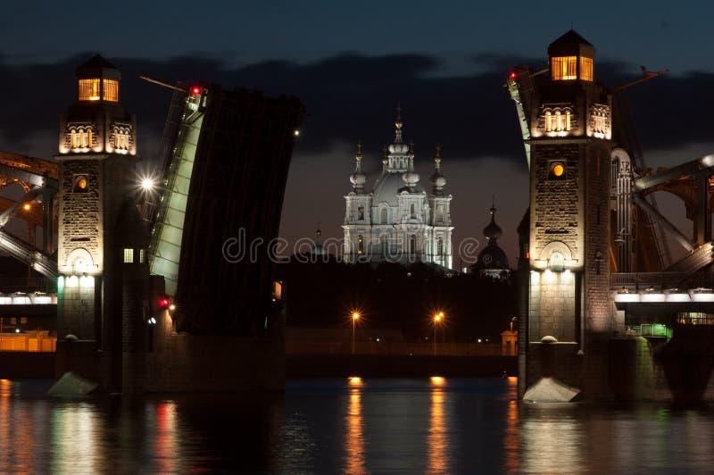 Peter The Great Bridge lizenzfreie stockfotos