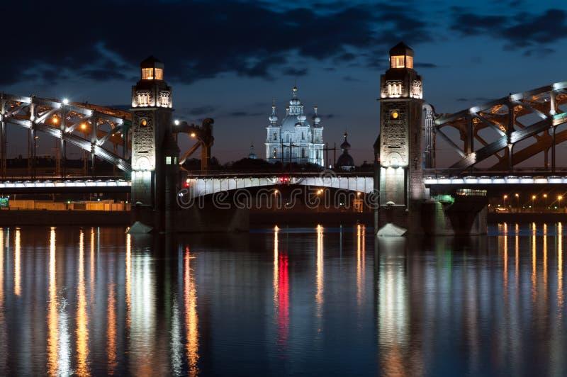Peter The Great Bridge lizenzfreie stockbilder