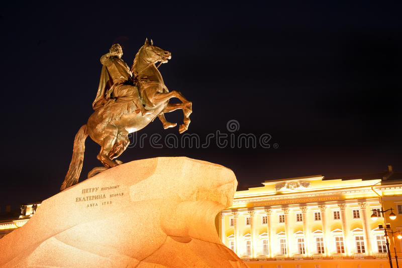 Peter The Great Statue Stock Photo