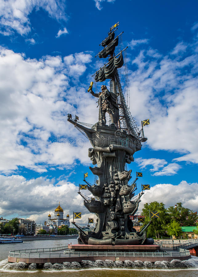 Peter het Grote monument stock fotografie