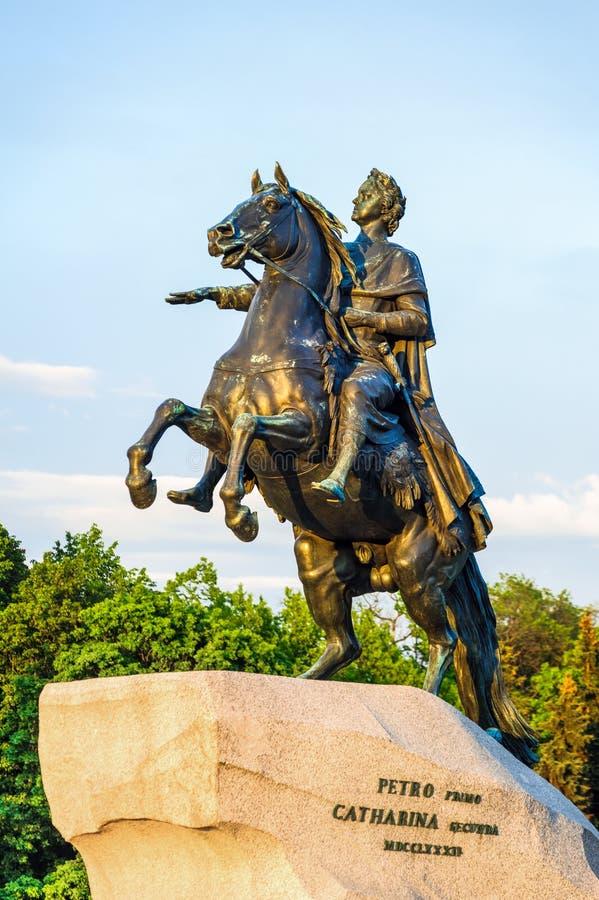 Peter het Grote monument (Bronsruiter) royalty-vrije stock afbeelding