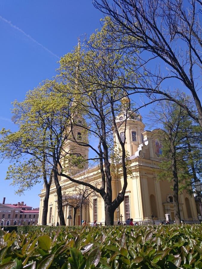 Peter i Paul katedra w fortecy Peter i Paul, Świątobliwy Petersburg, Rosja Petropavlovskaya Krepost Zayachy wyspy zając obrazy royalty free
