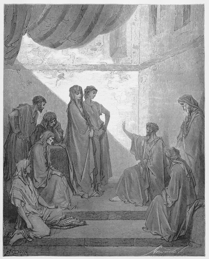 Peter im Haus von Cornelius lizenzfreie abbildung