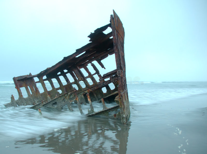 Download Peter Iredale shipwreck stock image. Image of skeleton, history - 4325