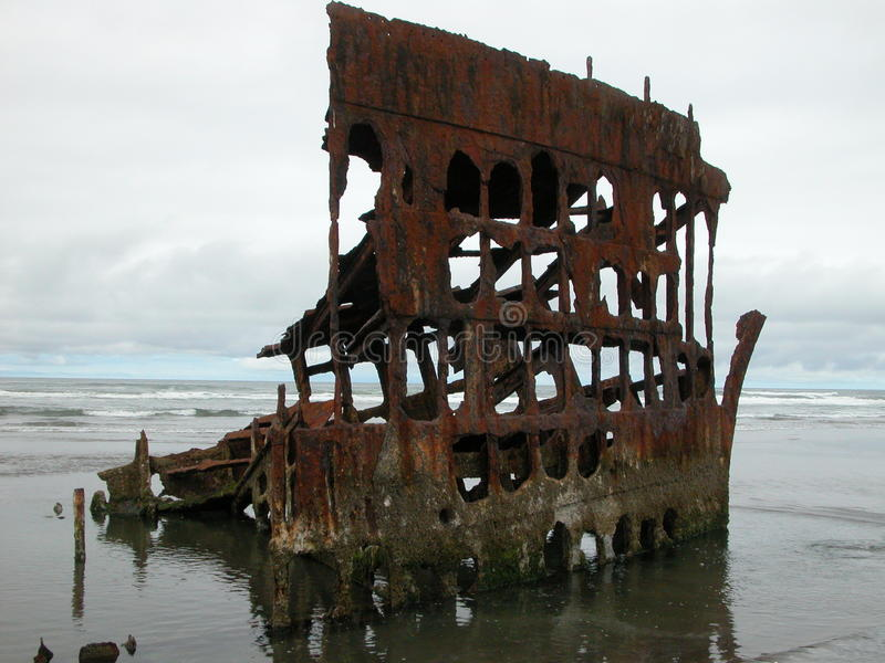 Peter Iredale Shipwreck royalty free stock photo