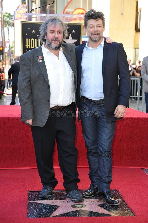 Peter Jackson & Andy Serkis stock photos