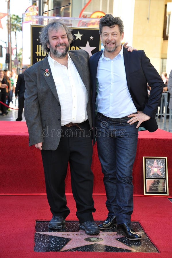 Peter Jackson & Andy Serkis stock images