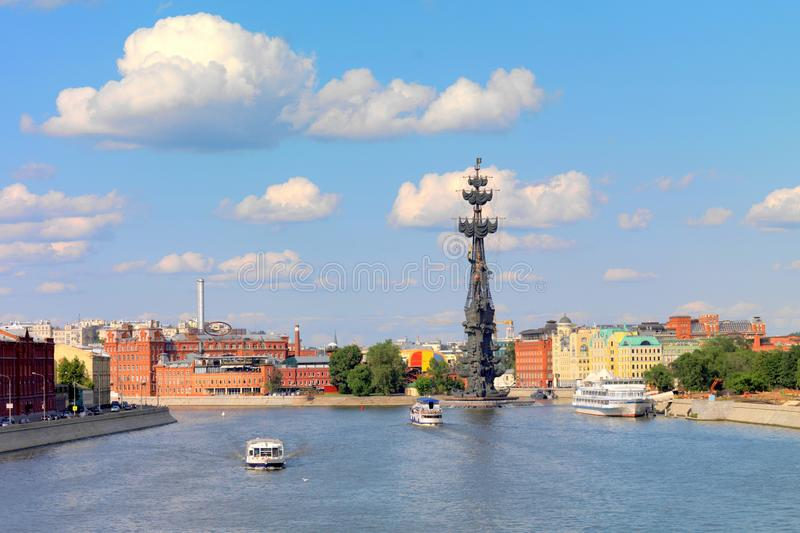Peter la grande statue, Moscou, Russie photographie stock libre de droits