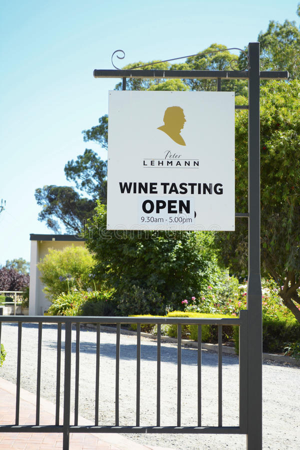 Peter Lehmann Winery signage royalty free stock image