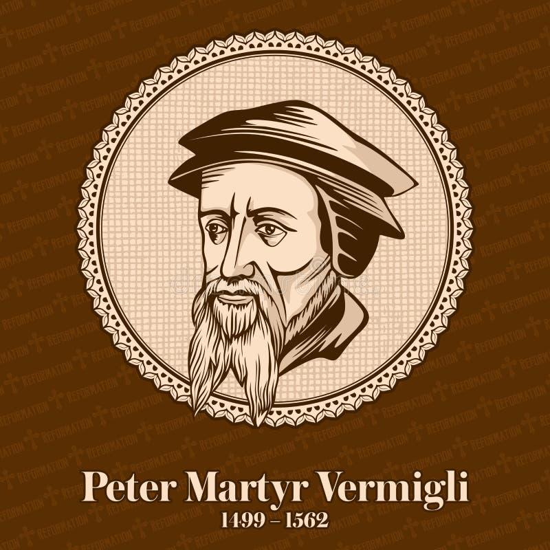 """Peter Martyr Vermigli 1499 †""""1562 was een Italiaans-Geboren Opnieuw gevormde theoloog Christelijk cijfer royalty-vrije illustratie"""