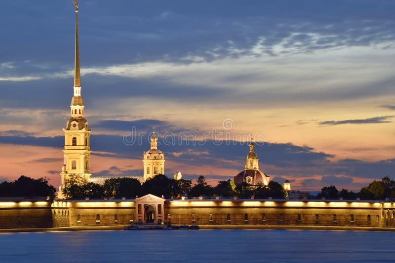 Peter och Paul Cathedral, St Petersburg, Ryssland fotografering för bildbyråer