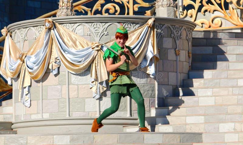 Peter Pan στη σκηνή στον κόσμο της Disney στοκ εικόνα με δικαίωμα ελεύθερης χρήσης