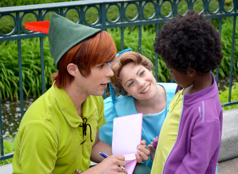 Peter Pan en Wendy stock afbeelding
