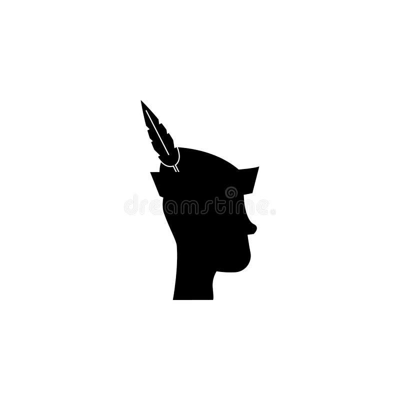 Peter Pan Silhouette Element van de illustratie van sprookjehelden Grafisch het ontwerppictogram van de premiekwaliteit tekens en vector illustratie
