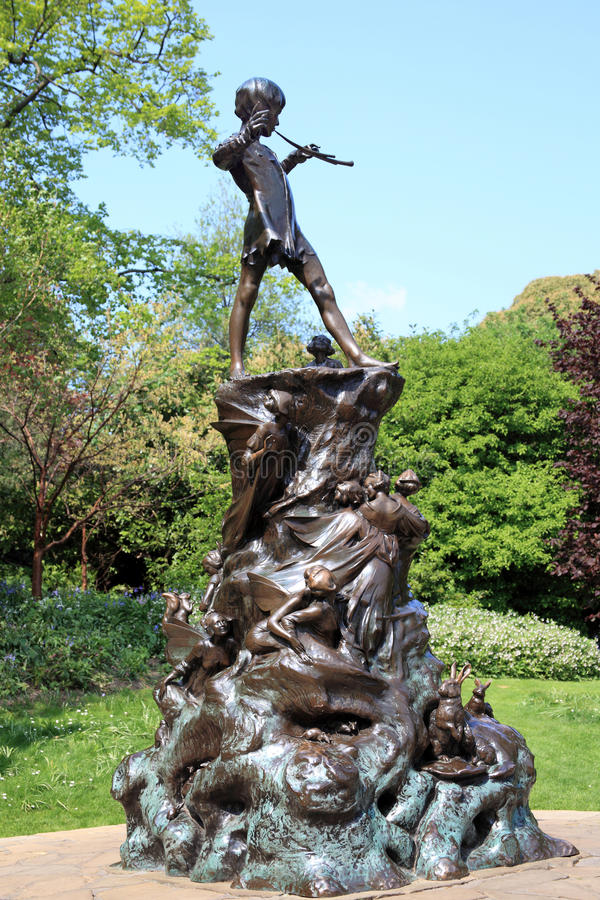 Peter Pan statue royalty free stock images
