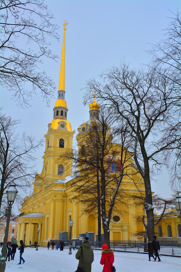 Peter and Paul Cathedral in St. Petersburg, Russia royalty free stock images
