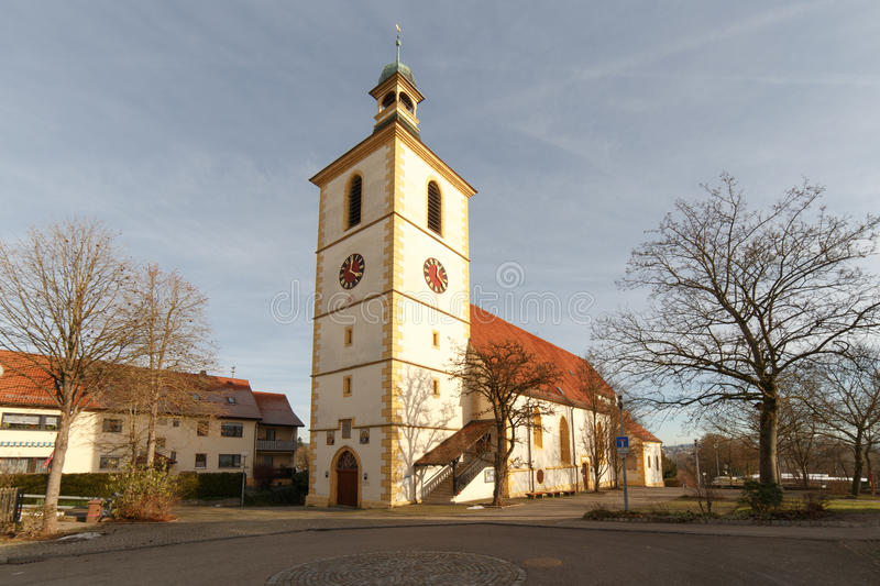 Peter and Paul Church Koengen. Protestant church Peter & Paul in Köngen from outside royalty free stock images