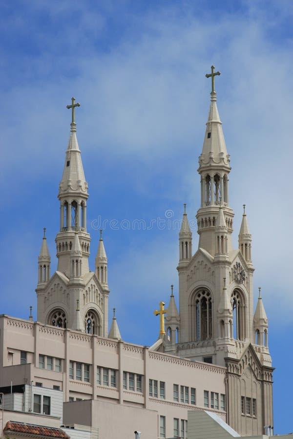 Peter and Paul Church North Beach San Fran Rear royalty free stock image