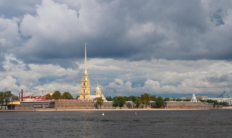 Peter and Paul Fortress stock images