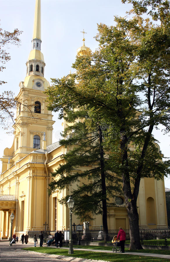 The Peter and Paul Fortress stock image