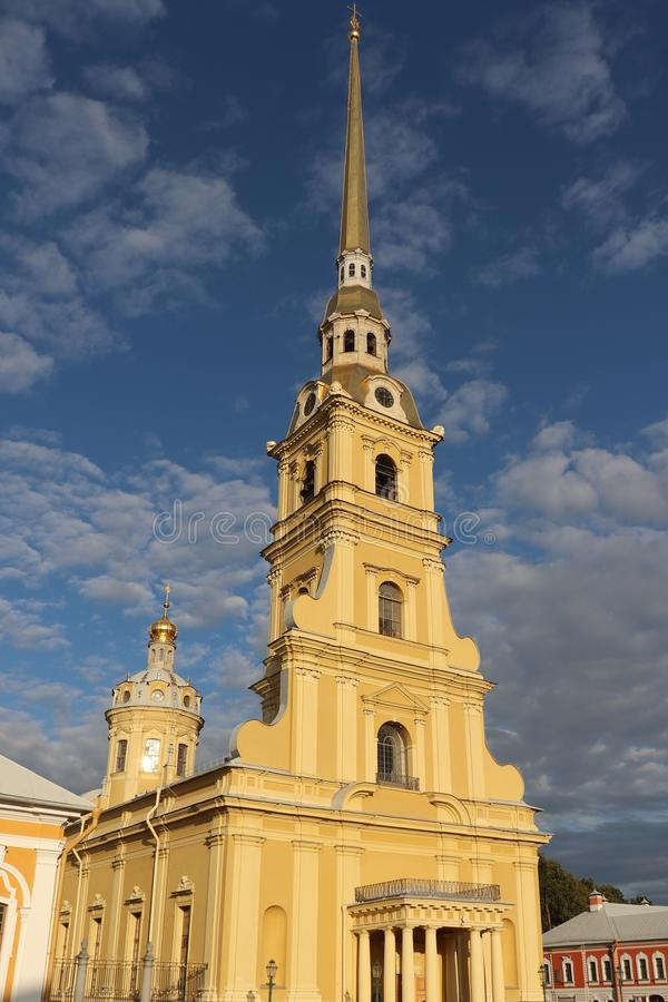 Peter and Paul fortress side view in St. Petersburg royalty free stock images