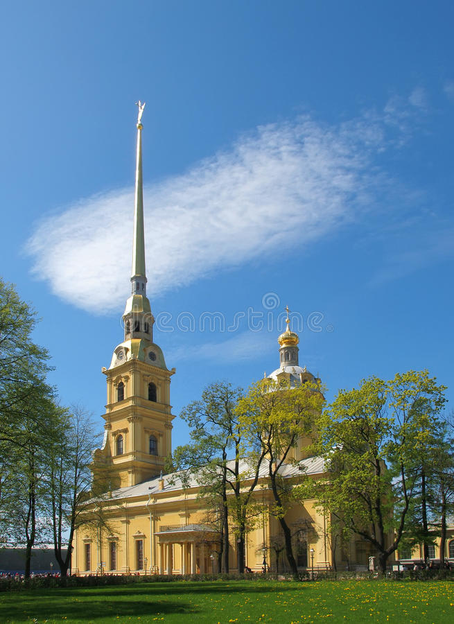 The Peter and Paul Fortress in St. Petersburg. stock photos