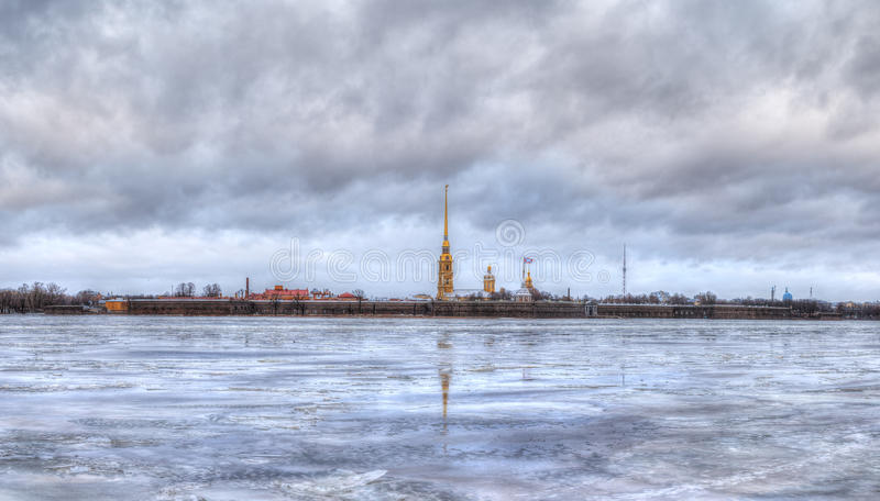 Peter and Paul Fortress, St. Petersburg stock photography