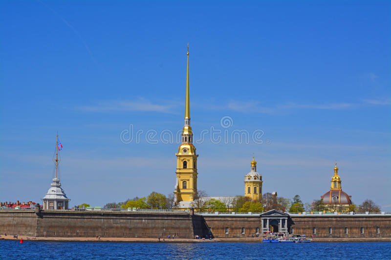 Peter and Paul Fortress in St. Petersburg, Russia stock images