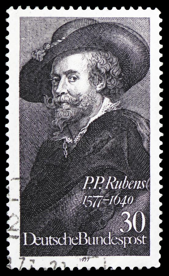Peter Paul Rubens 1577-1640, φλαμανδικός ζωγράφος, αυτοπροσωπογραφία, serie, circa 1977 στοκ εικόνες με δικαίωμα ελεύθερης χρήσης