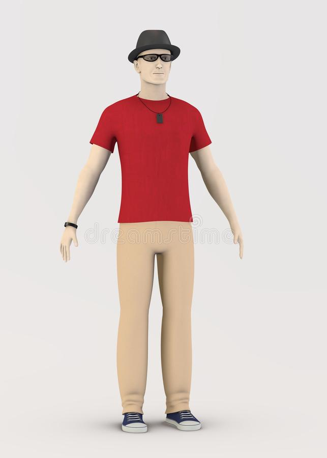 Peter in red stock illustration
