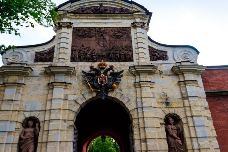 Peter's gate från Peter och Paul fortress i Sankt Petersburg, Ryssland royaltyfri fotografi