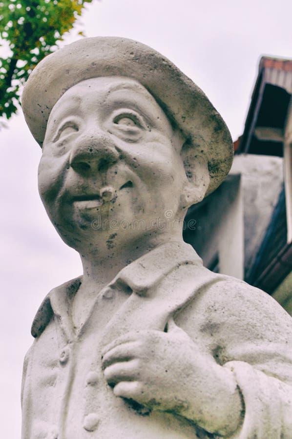 Peter Statue no jardim da arte de Mannheim imagem de stock royalty free