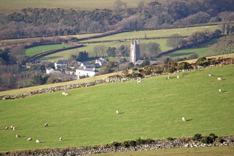 Peter Tavy, Dartmoor stock photo