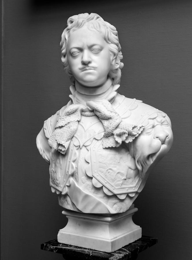 Free Peter The Great Marble Portrait Bust Stock Image - 63436441