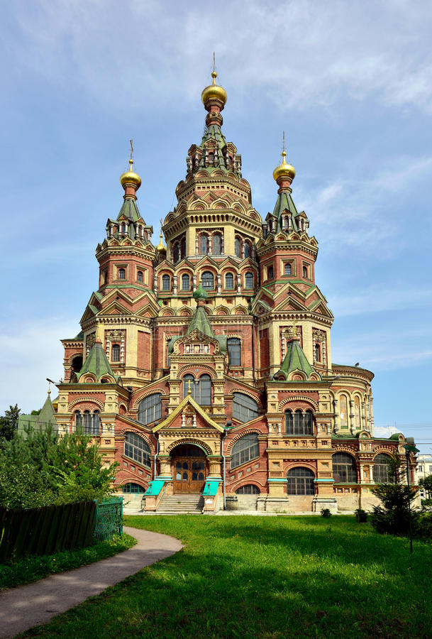 Peter und Paul Cathedral in Peterhof, Russland stockfotos